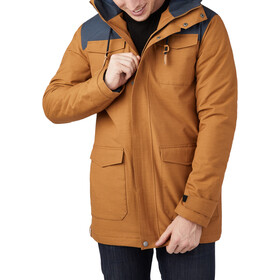 tentree Destination Jacket Men rubber brown/dark ocean